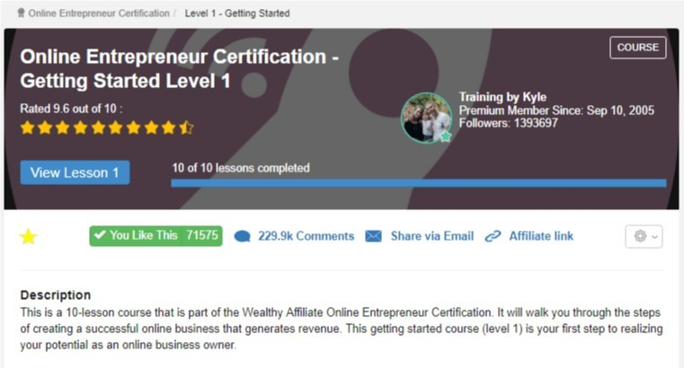 OES level 1 a