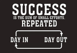 Success is the sum of all small efforts
