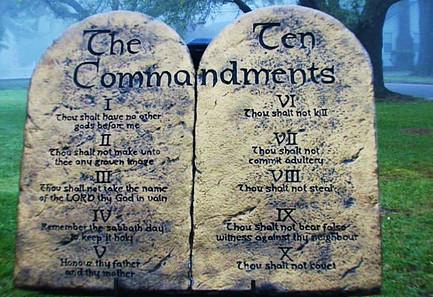 The Ten Commandments Stone